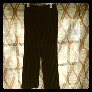 Spiegel Black Pinstripe Pants